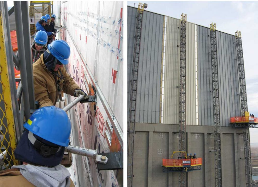 Reactor Building Siding Replacement Lifts